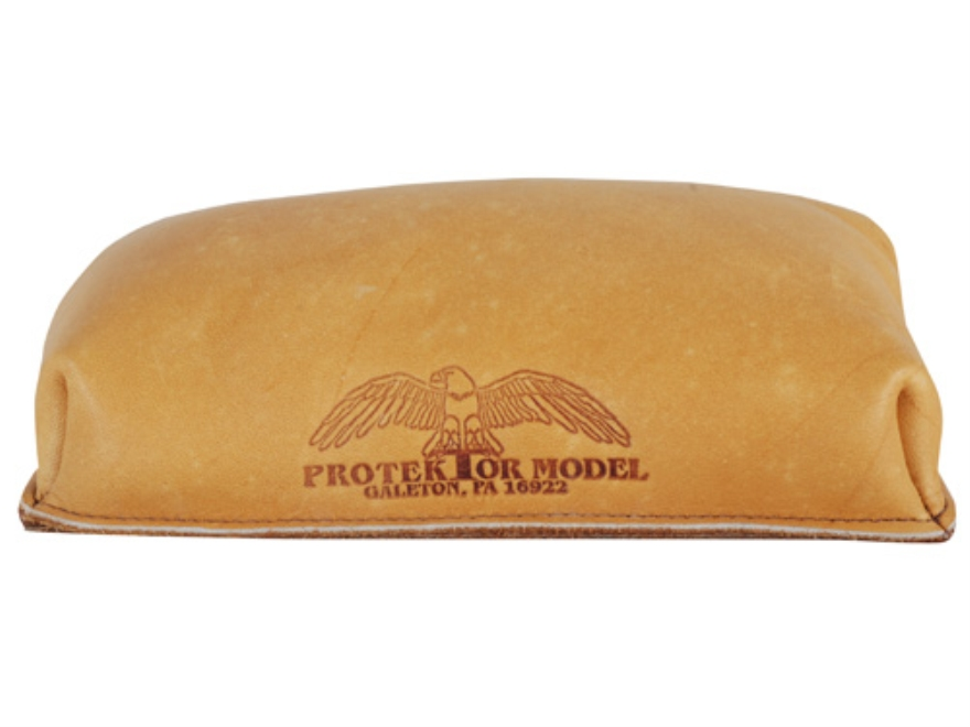 Protektor Brick Rifle Front Shooting Rest Bag Leather Tan Filled