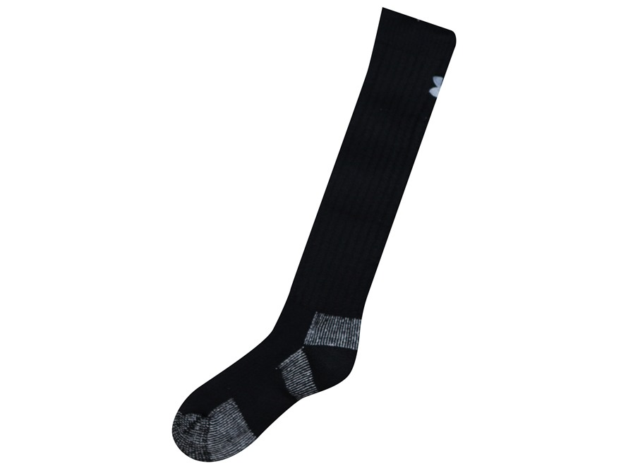 Under Armour Men's UA Scent Control Over the Calf Socks Polyester Wool Blend Black Medium (4-8-1/2)