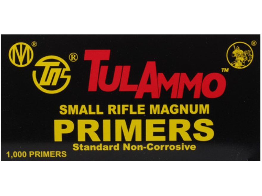TulAmmo Small Rifle Magnum Primers Case of 5000 (5 Boxes of 1000)