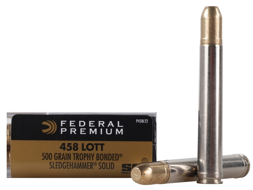 Federal Premium Cape-Shok Ammunition 458 Lott 500 Grain Speer Trophy Bonded Sledgehammer Box of 20