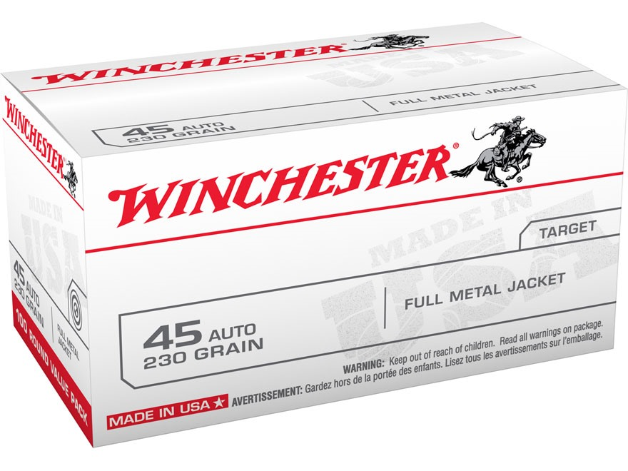 Winchester USA Ammunition 45 ACP 230 Grain Full Metal Jacket