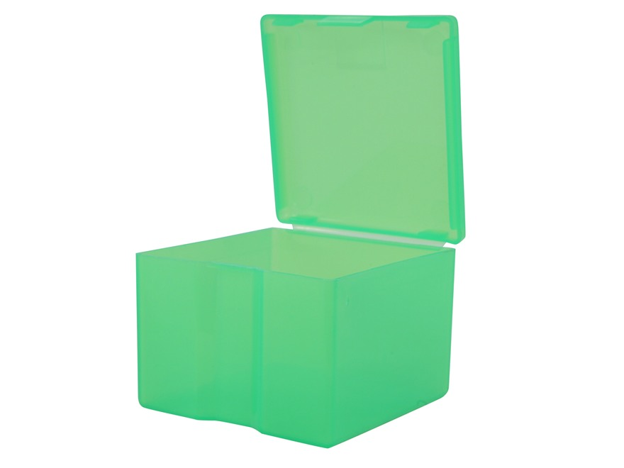 MTM Cast Bullet Box Plastic Clear Green Package of 2