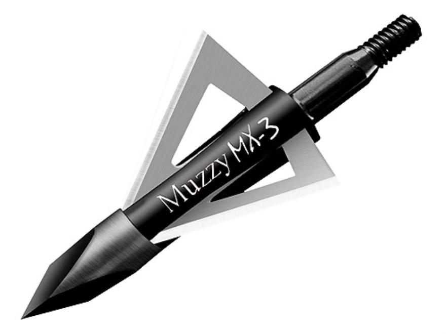 Muzzy MX-3 Fixed Blade Broadhead Pack of 3