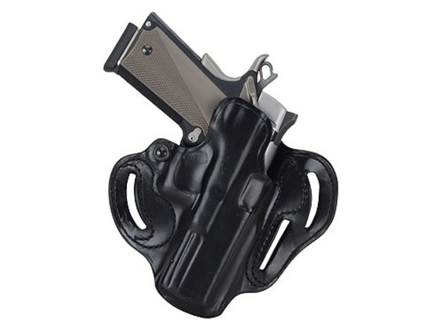 DeSantis Speed Scabbard Belt Holster Right Hand Sig Sauer P250 Sub Compact Leather Black