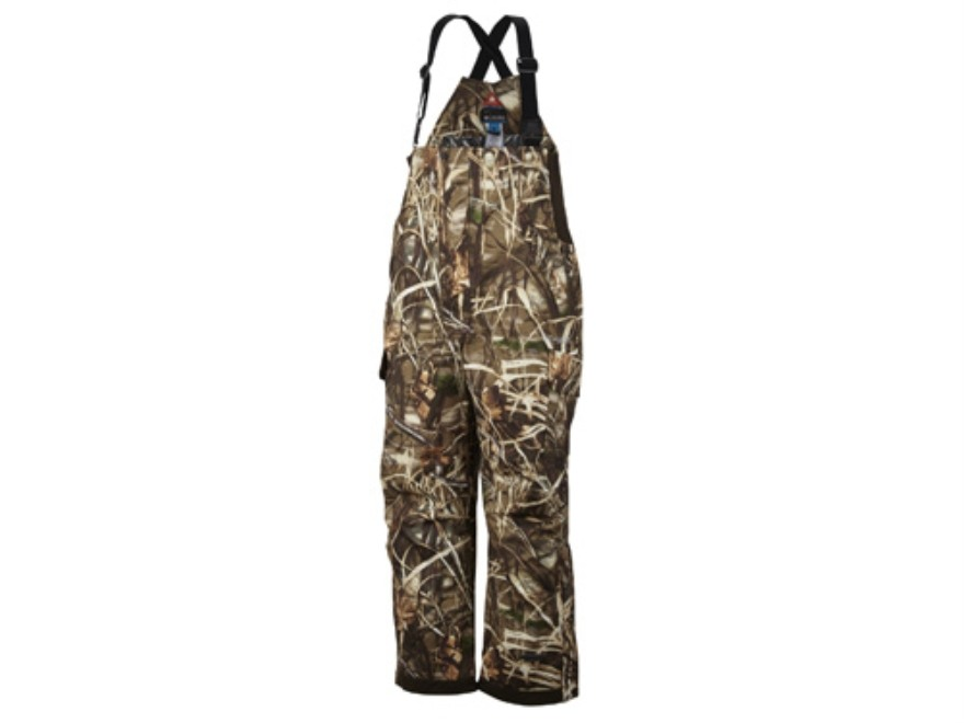 "Columbia Sportswear Men's Widgeon II Bibs Insulated Waterproof Polyester Realtree Max-4 Camo Large 36-39 Waist 32-1/2"" Inseam"