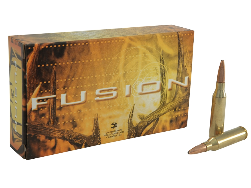 Federal Fusion Ammunition 260 Remington 120 Grain Spitzer Boat Tail Box of 20