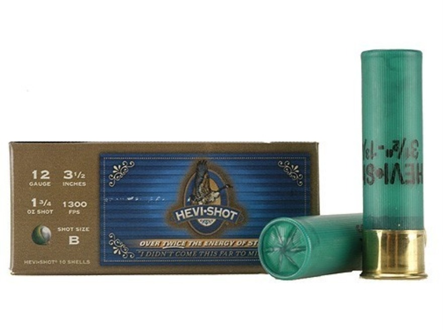 "Hevi-Shot Goose Waterfowl Ammunition 12 Gauge 3-1/2"" 1-3/4 oz B Non-Toxic Shot"