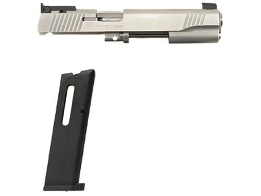 Kimber Rimfire Target Conversion Kit with Adjustable Sights 1911 Government 22 Long Rifle Silver 10-Round Magazine Factory Reconditioned