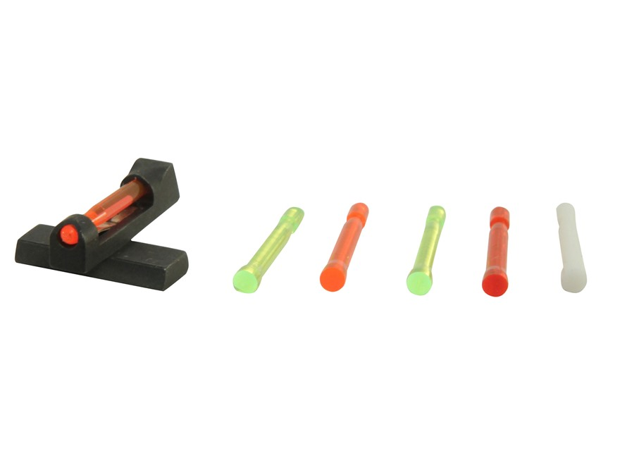 HIVIZ Front Sight HK USP Full-Size 6.8mm Height Steel Fiber Optic with 6 Interchangeable Lite Pipes