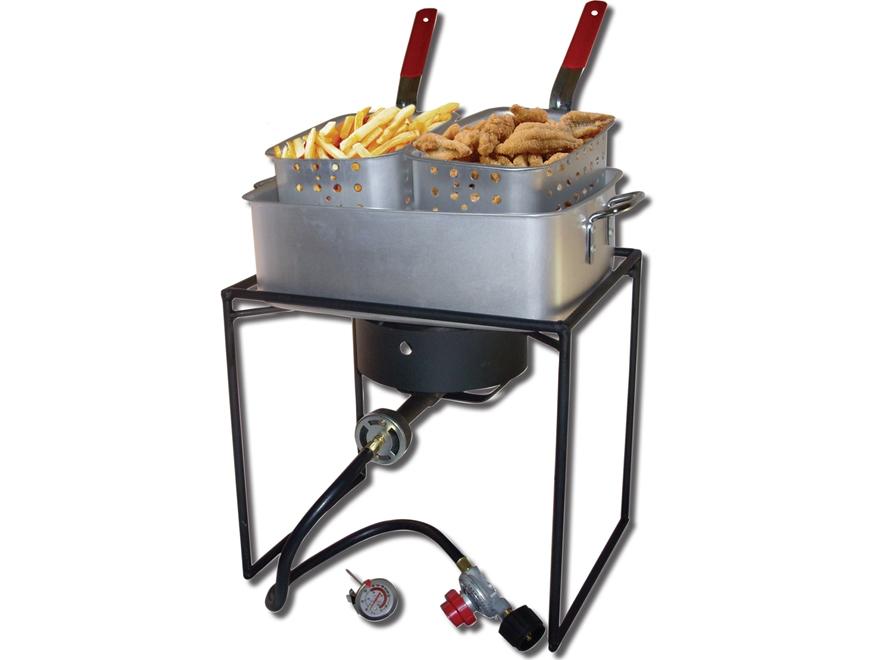 King kooker 15 qt dual basket propane deep fryer for Fish fryer basket