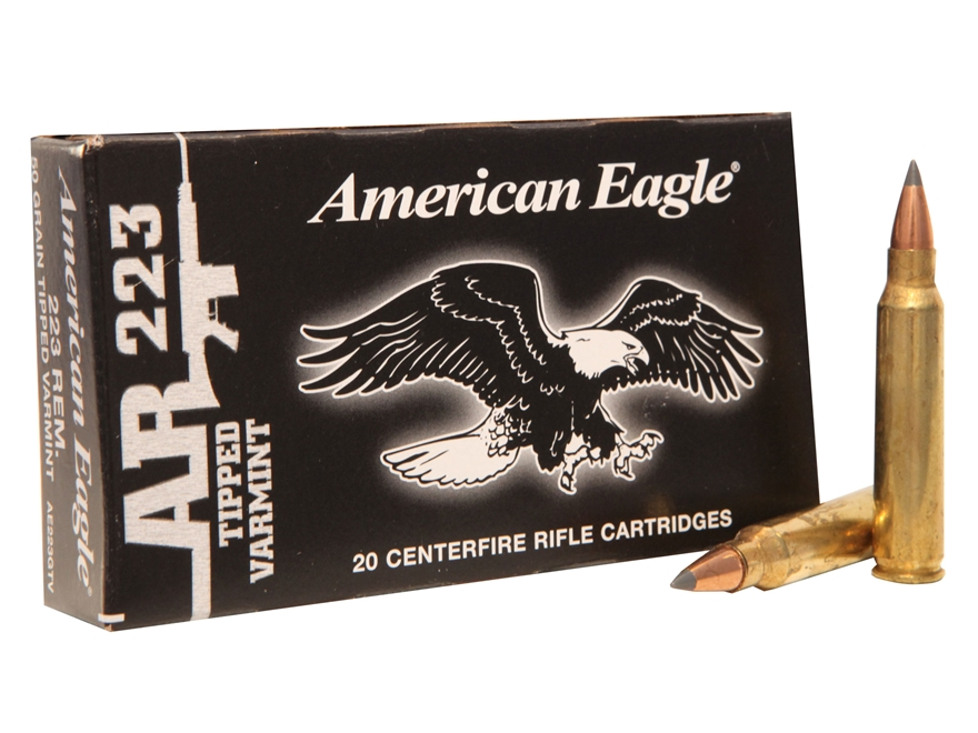 Federal American Eagle Ammunition 223 Remington 50 Grain Tipped Varmint