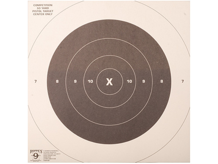 Hoppe's Slow Fire Target 50 Yard Pistol Package of 20