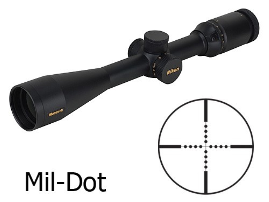 Nikon Monarch Rifle Scope 4-16x 42mm Side Focus Mil-Dot Reticle Matte