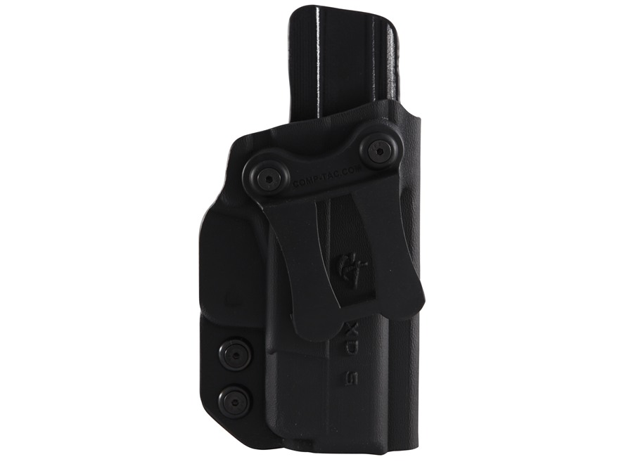 "Comp-Tac Infidel Inside the Waistband Holster with Infidel Belt Clip 1-1/2"" Right Hand Springfield XDS 3.3"" 45 Kydex Black"