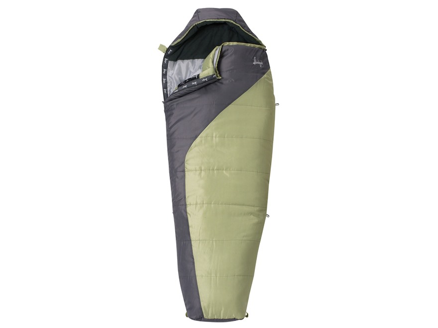 Slumberjack Women's Star Lake 20 Degree Mummy Sleeping Bag Polyester Green and Gray