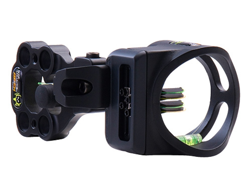"Apex Gear Bone Collector Accu Strike 4 Lite 4-Pin Bow Sight .019"" Diameter Pin Ambidextrous Magnesium Black"
