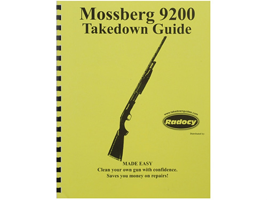 "Radocy Takedown Guide ""Mossberg 9200"""