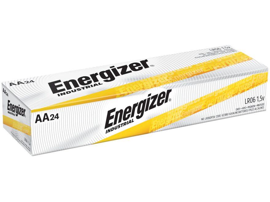 Energizer Battery AA Industrial Alkaline EN91 Pack of 24