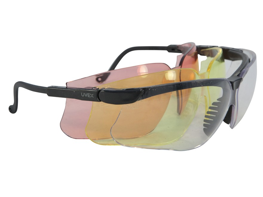 Howard Leight Genesis XC Shooting Glasses Clear, Amber and Vermillion Lenses
