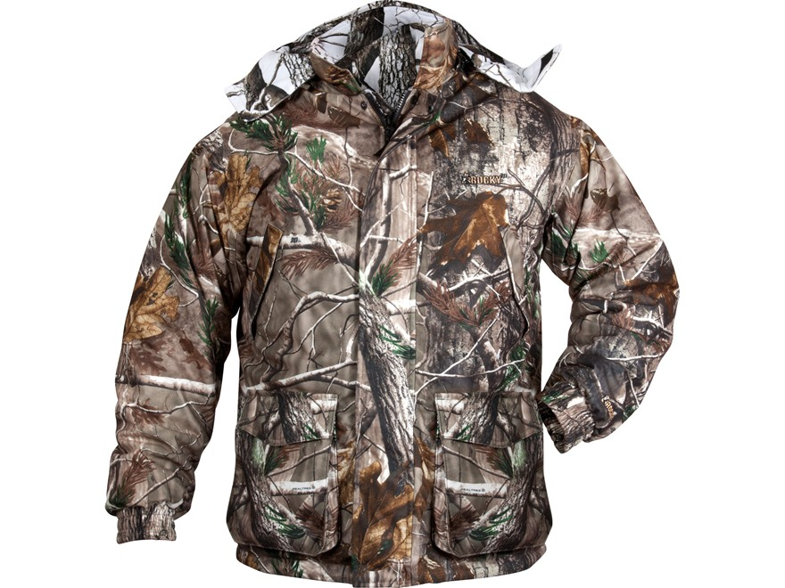 Rocky Men's ProHunter Reversible Waterproof Insulated Parka Polyester Realtree AP and Realtree Hardwoods Snow Camo XL 46-48