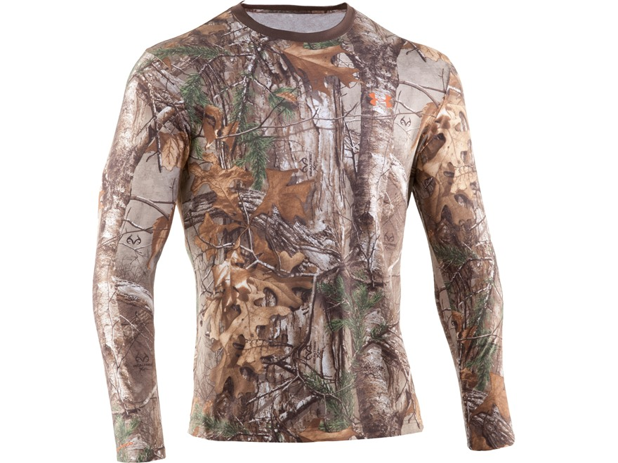 Under Armour Men's HeatGear Charged Cotton T-Shirt Long Sleeve Cotton Realtree Xtra Camo Medium 38-40