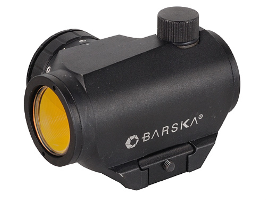 Barska Red Dot Sight 1x 20mm 2 MOA Dot with Intergal Weaver-Style Base Matte