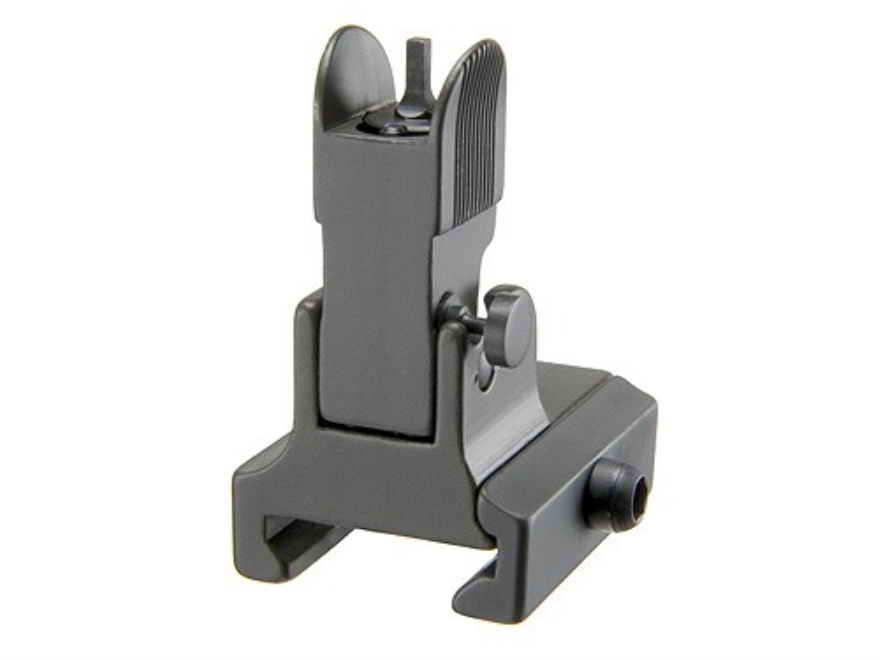 GG&G Flip-Up Front Sight with Locking Detent Gas Block Height AR-15, LR-308 Aluminum Matte