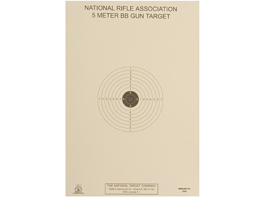 NRA Official Air Rifle Targets AR-4/1 5 Meter BB Gun Paper Package of 100