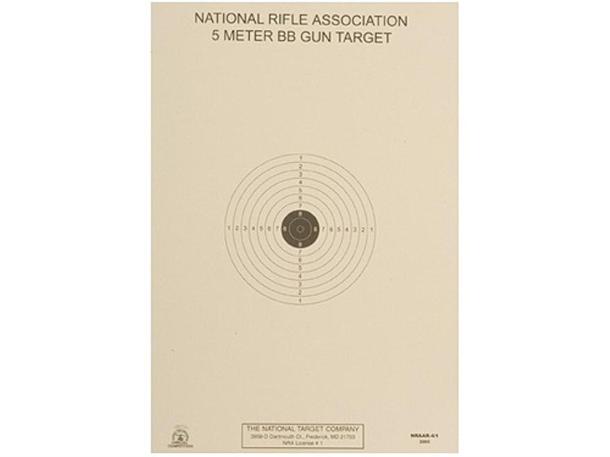 NRA Official Air Rifle Targets AR-4/1 5 Meter BB Gun Paper Package of 100