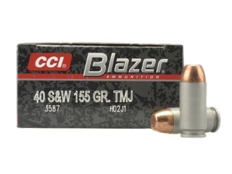 CCI Blazer Ammunition 40 S&W 155 Grain Total Metal Jacket Box of 50