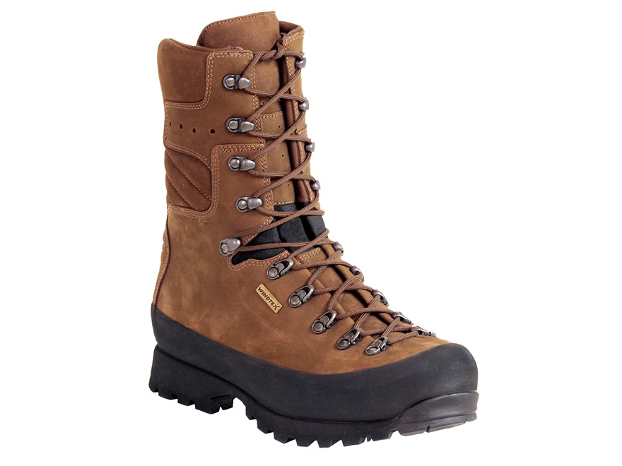"Kenetrek Mountain Extremes 10"" Waterproof Uninsulated Hunting Boots Leather and Nylon Brown Men's"