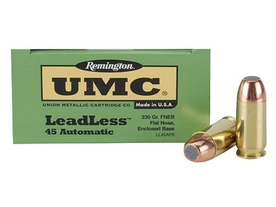 Remington UMC Ammunition 45 ACP 230 Grain Flat Nose Enclosed Base Box of 50