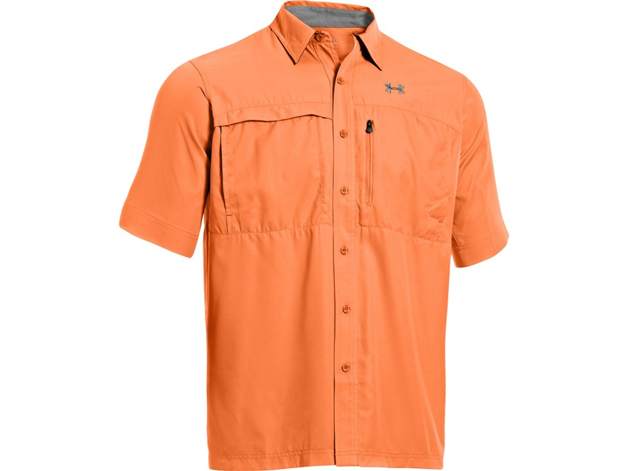 Under Armour Men's UA Flats Guide Short Sleeve Shirt Polyester