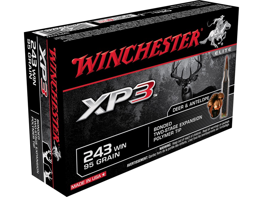 Winchester Ammunition 243 Winchester 95 Grain XP3 Box of 20