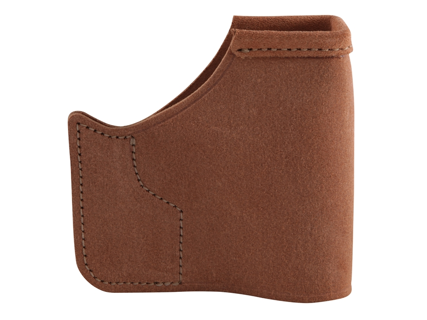 "Galco Pocket Protector Holster Ambidextrous Taurus 709 Slim, Smith and Wesson M&P Shield, Springfield XDS 3.3"" Leather Brown"