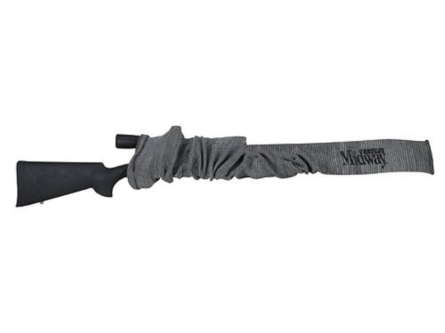 MidwayUSA Gun Sock Rifle and Shotgun Silicone-Treated Gray 52""