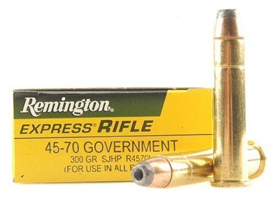 Remington Express Ammunition 45-70 Government 300 Grain Semi-Jacketed Hollow Point Box ...