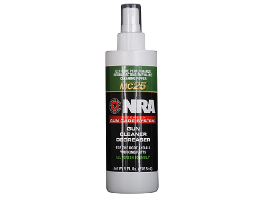 NRA Licensed Gun Care Kit By Mil-Comm MC25 Gun Cleaner Degreaser Bore Cleaning Solvent 8 oz Spray Bottle