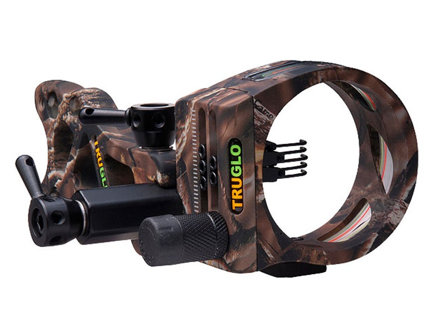 "TRUGLO TSX Pro TL 5-Pin Bow Sight .019"" Diameter Pins Lost Camo"