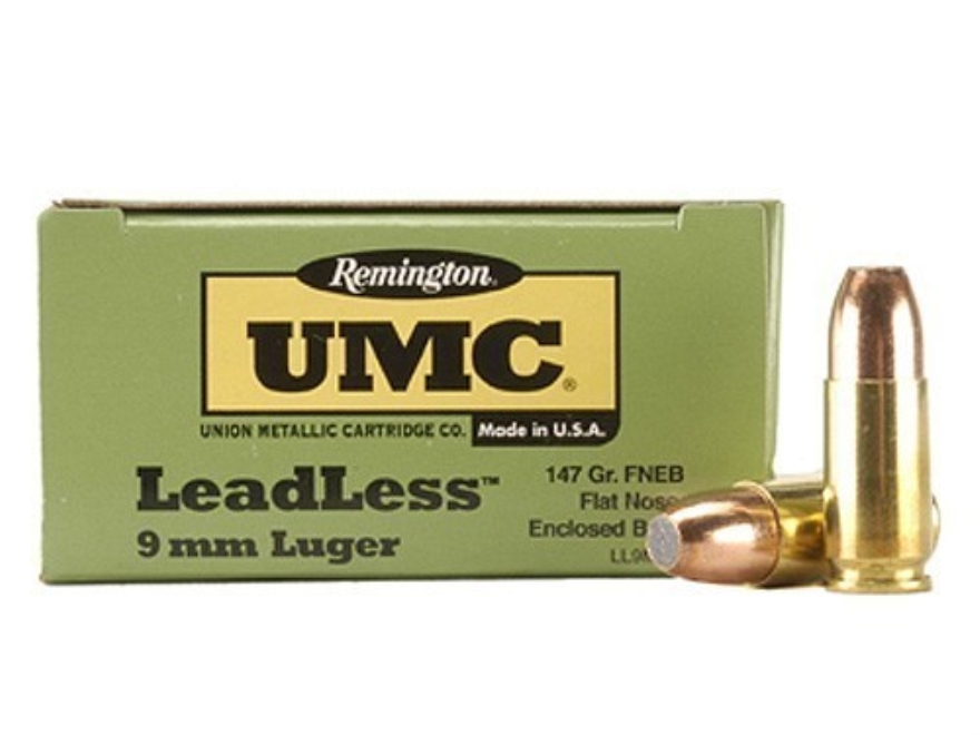 Remington UMC Ammunition 9mm Luger 147 Grain Flat Nose Enclosed Base Box of 50
