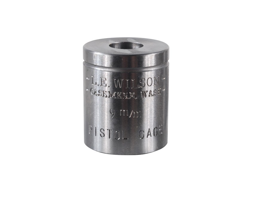 L.E. Wilson Max Cartridge Gage 9mm Luger