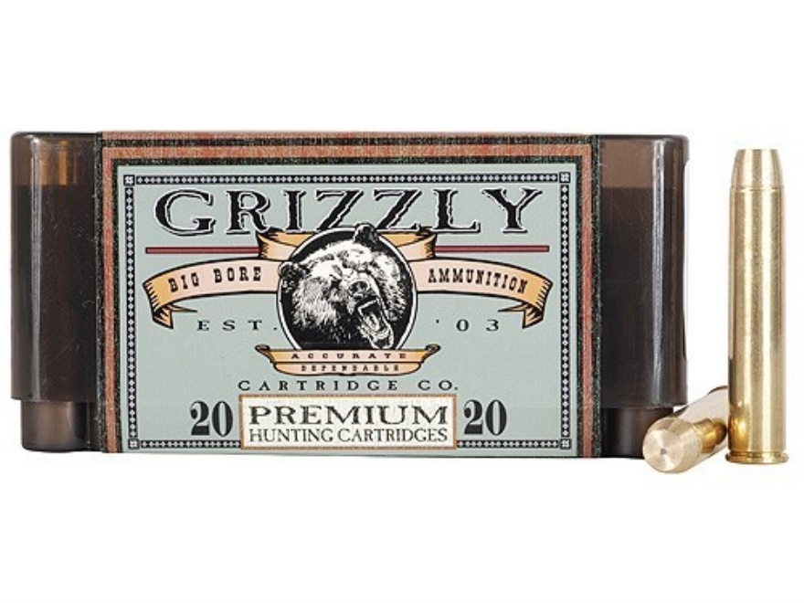Grizzly Ammunition 444 Marlin 300 Grain PUNCH Flat Nose Lead-Free Box of 20