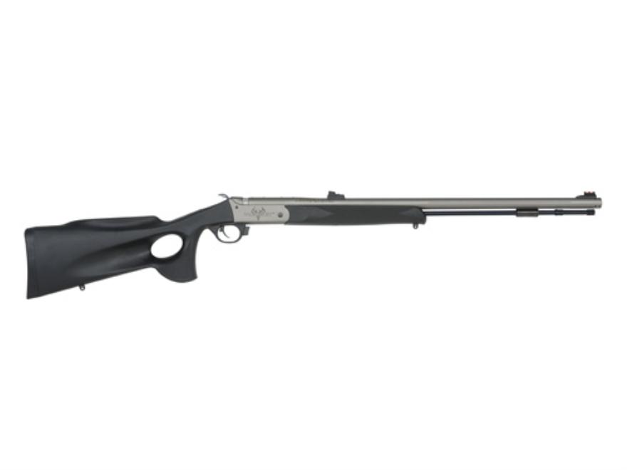 "Traditions Pursuit Ultralight Muzzeloading Rifle 50 Caliber Thumbhole Synthetic Stock Black 26"" Cerakote Barrel"