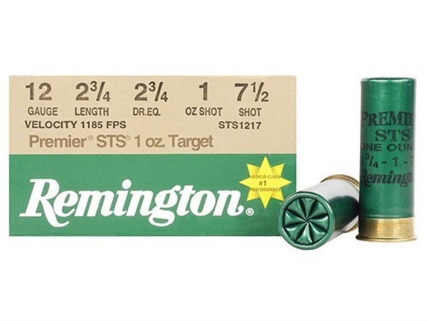 "Remington Premier STS Target Ammunition 12 Gauge 2-3/4"" 1 oz #7-1/2 Shot"