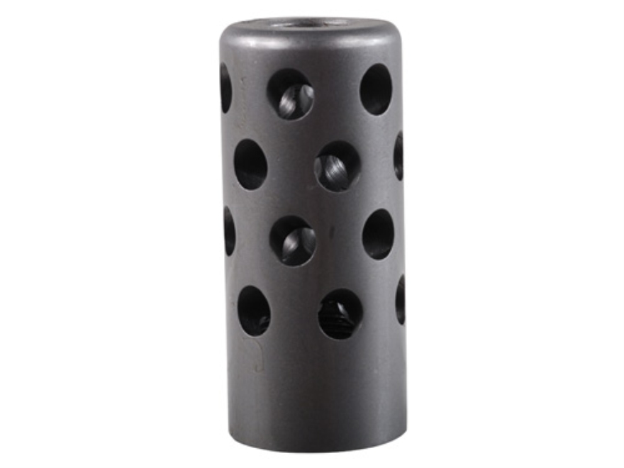 "Gentry Quiet Muzzle Brake 416 Caliber 5/8""-28 Thread .875"" Outside Diameter x 1.94"" Length Stainless Steel"