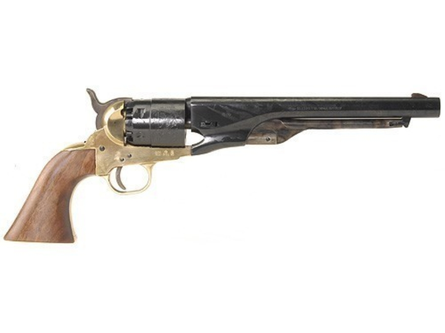 "Pietta 1860 Army Brass Frame Black Powder Revolver 44 Caliber 8"" Blue Barrel"