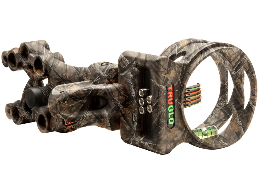 "TRUGLO Carbon XS 4 Light 4-Pin Bow Sight .019"" Diameter Pin Carbon Composite Lost Camo"
