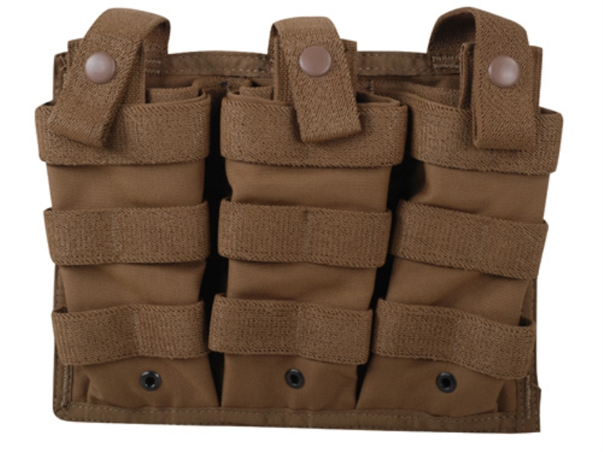 Spec.-Ops. CQB 6 MOLLE Compatible Six Magazine Shingle AR-15 Nylon Coyote Brown