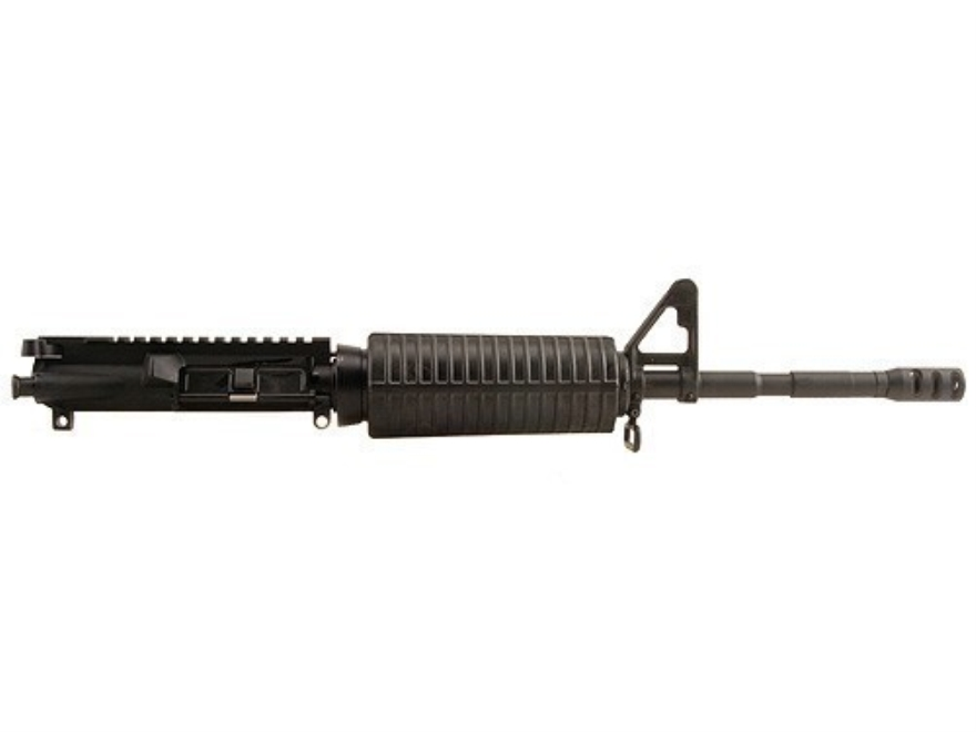 "DPMS AR-15 AP4 A3 Flat-Top Upper Assembly 5.56x45mm NATO 1 in 9"" Twist 16"" M4 Contour Barrel Chrome Moly Matte with GlacierGuard Handguard, A2 Front Sight, Miculek Muzzle Brake"