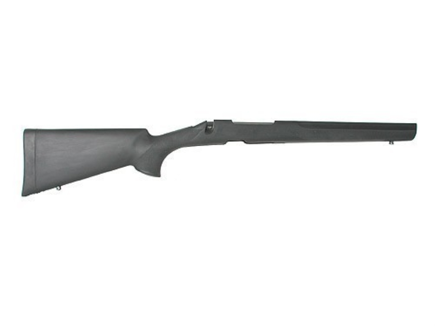 Hogue Rubber OverMolded Rifle Stock Remington 700 BDL Detachable Magazine Long Action Varmint Barrel Channel Full Bed Synthetic Black